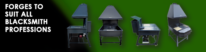Portable Coal Forge, Double hearth forge, Blowers